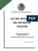 Ley de Notariado Yucatan