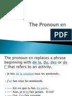 the pronoun en