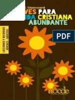 Claves Para Una Vida Cristiana Abundante - Lecciones y Recursos (Todo)