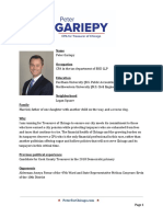 Peter Gariepy for City Treasurer -- Bio and Briefing