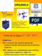 Clase 2º Medio 27-04-2011 Nomenclatura Orgánica