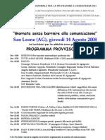 Programma e Modulo di iscrizione estate 2008 in provvsorio