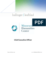 Executive Position Profile Minnesota Humanities Center - CEO