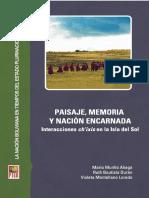 Paisaje, memoria y nación encarnada  Interacciones ch'ixis en la Isla del Sol