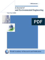 International Journal of Chemical and Environmental Engineering