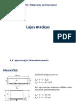 Dimensionamento e Detalhamento de Lajes Macicas