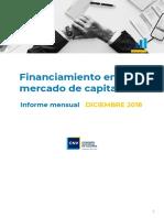 Informe Mensual Diciembre 2018 Financiamiento en Mercado de Capitales
