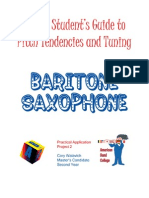 Intonation Workbook for Baritone Saxophone