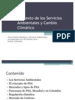 Contexto de los Servicios Ambientales y Cambio Climático