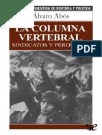 [Biblioteca Argentina de Historia y Politica 33] Abos, Alvaro - La Columna Vertebral [46152] (r1.0).Epub