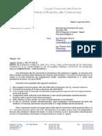 2 Lettera Vincitori DI LAURO Signed