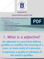 Adjective Calificative FINAL