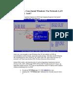 TUTORIAL Cara Instal Windows via Network LAN Dgn TFTPBoot