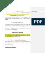 Ejemplo de PLanteamiento de Problema de Investigación - Maestria de Gestion Ambiental en La UNDAC