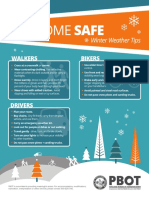 PBOT winter weather driving tips