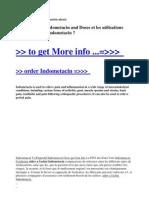 Aider a l'Achat Indometacin and Doses Et Les Utilisations Pour Les Enfants Indometacin
