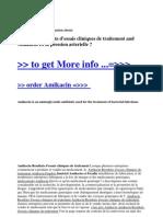 Amikacin Resultats d'essais cliniques de traitement and Amikacin Et la pression arterielle