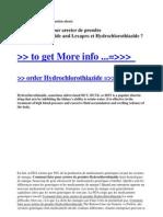 Comment Faire Pour Arreter de Prendre Hydrochlorothiazide and Lexapro Et Hydrochlorothiazide
