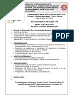 Agenda 5a Reunión Oridnaria de Consejo Técnico de La Zona Escolar 05 CE 15-16