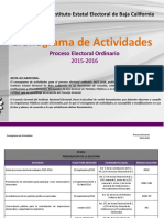 Cronograma IEE 2015