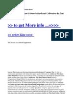 Etudes Sur Zinc Dans l'Abus d'Alcool and Utilisation de Zinc