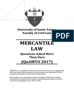 UST QuAMTO Mercantile Law 2017