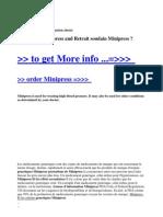 Generiques Minipress and Retrait Soudain Minipress