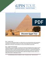 Discover Egypt Tour PDF