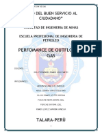 Perfomance Outflow de Gas