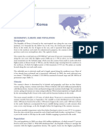 FAO (2009) - South Korea Agriculture and Geography
