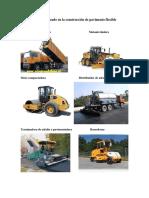 Equipo Utilizado en La Construcción de Pavimento Flexible