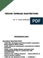 Teknik Operasi Mastektomi