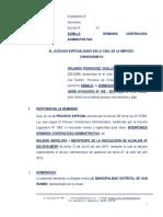 Demanda Contenciosa Administrativa 23 - Orlando Rodriguez Cuello