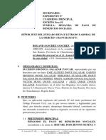 Demanda Laboral 12 - Pago de Beneficios Sociales - Rolando Sanchez Sanhez