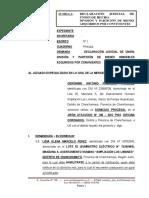 Demanda de Declaracion de Union de Hecho - Geronimo Antonio Palomino Vasquez