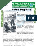 Ficha Conciencia Despierta Para Tercero de Primaria