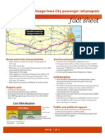 Iowa City Passenger Rail Fact Sheet