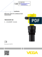 VEGASON-62-Level-Sensor-VEGASON-Ultrasonic-Level-Sensor---Operating-Instructions---4-20mAHART