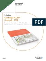 Cambridge IGCSE Geography 0460