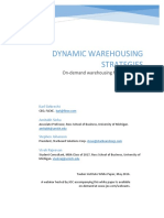 Dynamic Warehousing Strategies
