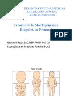Teratología Resumen Clases Dr Rojas