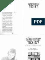 Como formular un proyecto de tesis