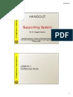 217591_Handout Supporting System - Lab Mekanika Batuan UPN Veteran Yogyakarta