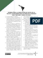 Normas Revista Latinoamericana de Derechos Humanos