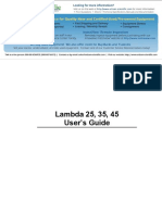 Perkin Elmer Lambda 25-35-45 Manual