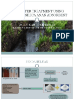 Peat Water Treatment Using Chitosan-silica as an Adsorbent