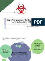 Aspectos Generales de Bioseguridad en El Laboratorio Clínico