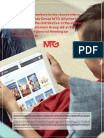 MTG a NENT - info brožura pro akcionáře