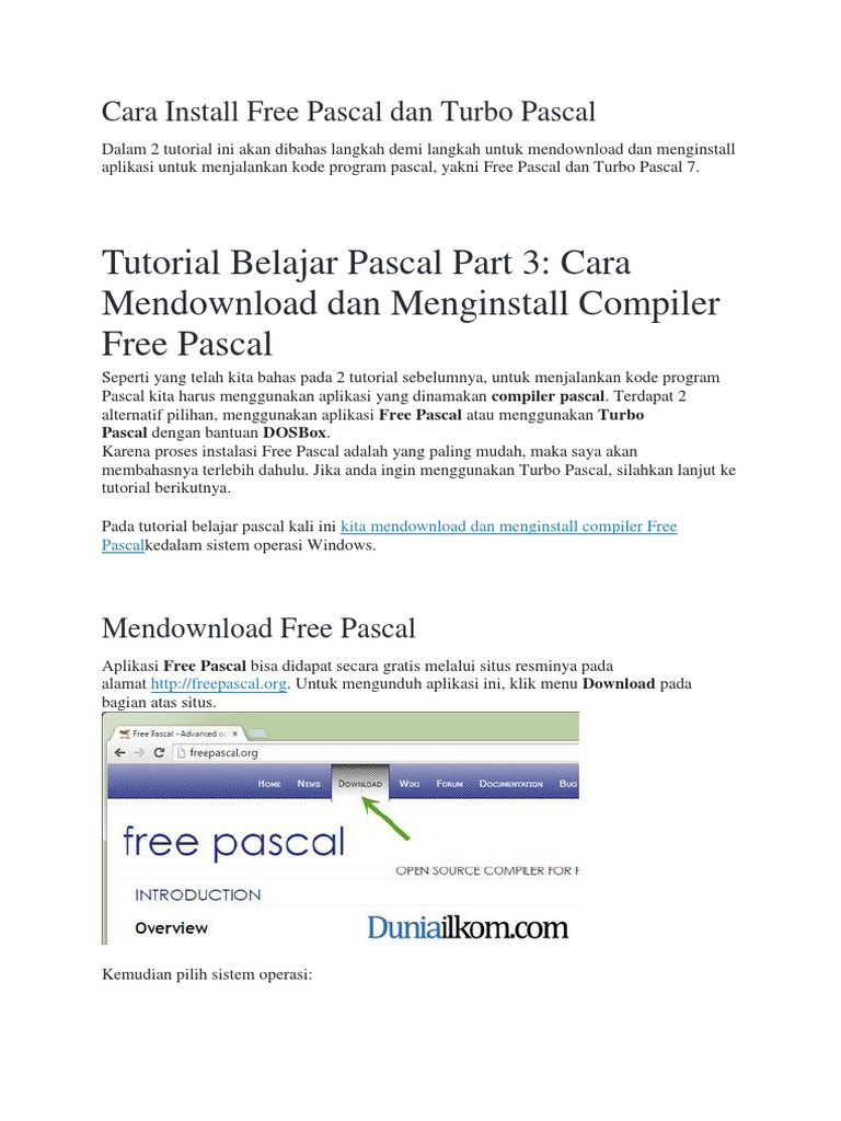 Belajar FreePascal