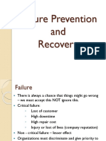 5. Failure Prevention and Recovery